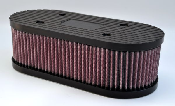 Airfilter case CNC milled with K&N airfilterfilter