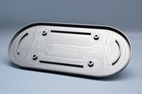 Plate for airfilter case CNC milled with KN airfilterfilter
