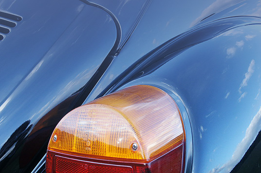 Rear light of a volkswagen beetle